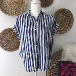 Madewell Striped Button Front Central Shirt